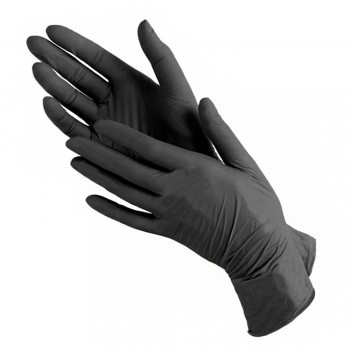 Перчатки нитриловые  чёрные S, M, L