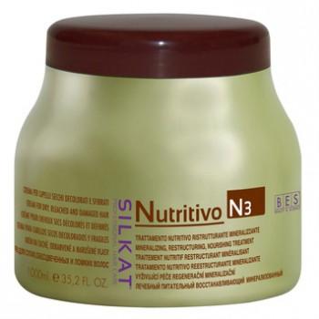 Крем-компресс для обесцвеченных, сухих и ломких волос N3 Silkat Nutritivo Bes