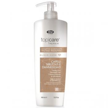 Шампунь для сияния и блеска волос Lisap Top care repair Elixir Care