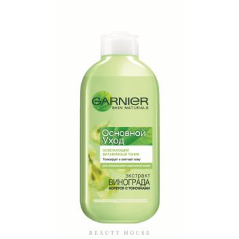 Тоник для лица основной уход освежающий с витаминами для нормальной и смешанной кожи Garnier