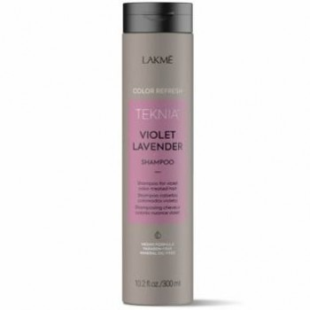 Цветной освежающий шампунь для окрашенных в фиолетовый цвет волос TEKNIA Violet Lavender