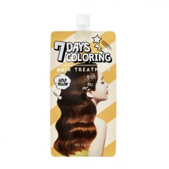 Оттеночный бальзам для волос MISSHA 7 Days Coloring Hair Treatment (Gold Yellow)