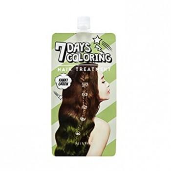 Оттеночный бальзам для волос MISSHA 7 Days Coloring Hair Treatment (Khaki Green)