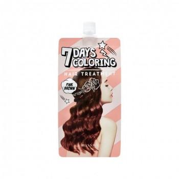 Оттеночный бальзам для волос MISSHA 7 Days Coloring Hair Treatment (Pink Brown)