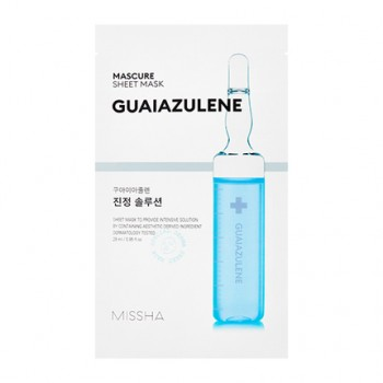 Успокаивающая маска для лица MISSHA Mascure Calming Solution Sheet Mask (Guaiazulene)
