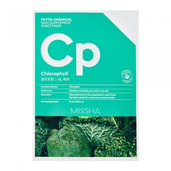 Успокаивающая маска для лица MISSHA Phyto-chemical Skin Supplement Sheet Mask (Chlorophyll/AC Care)