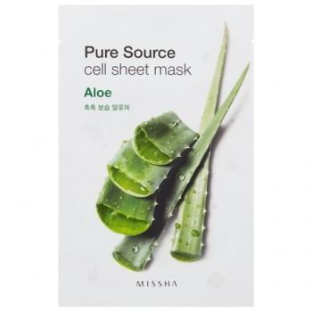Маска для лица на тканевой основе MISSHA Pure Source Cell Sheet Mask (Aloe)