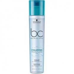 Увлажняющий мицеллярный шампунь для деликатного очищения нормальных, сухих и вьющихся волос Hyaluronic Moisture Kick Bonacure