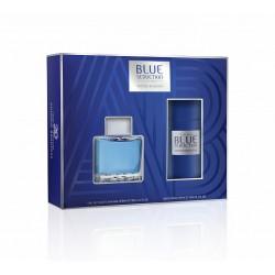 Набор (Туалетная вода100мл+дез.спрей150мл) Antonio Banderas Blue Seduction Мужской