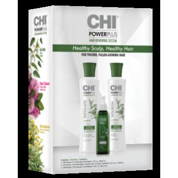 Набор от выпадения с крапивой CHI Power Plus Hair Renewing System Chi