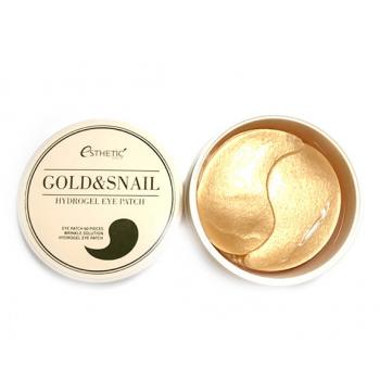 Гидрогелевые патчи для глаз золото\улитка ESTHETIC HOUSE GOLD SNAIL HYDROGEL EYEPATCH