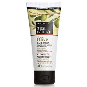 Питательный и восстанавливающий крем с оливковым маслом для сухой и потрескавшейся кожи рук Farcom MEA NATURA Olive