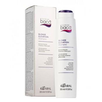 Шампунь для светлых волос и тонировки седых волос с антижелтым эффектом Blonde Elevation Shampoo Baco ML Kaaral