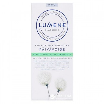 """Дневной крем для жирной и комбинированной кожи """"контроль жирного блеска"""" LUMENE KLASSIKKO Lumene"""