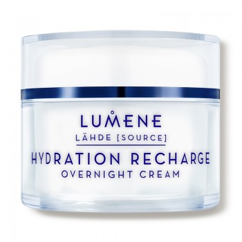 Увлажняющий ночной крем LÄHDE, HYDRATION RECHARGE OVERNIGHT CREAM Lumene