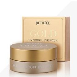 Гидрогелевые патчи для кожи вокруг глаз, с золотом GOLD Hydrogel Eye Patch PETITFEE GOLD