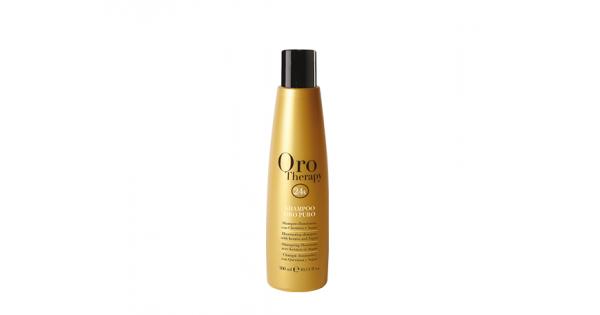Fanola Oro Therapy 24k Oro Puro Шампунь с кератином, аргановым маслом и микрочастицами золота