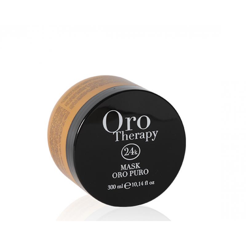 Fanola Oro Therapy 24k Oro Puro Восстанавливающая маска с кератином, аргановым маслом и микрочастицами золота