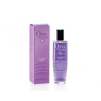 Флюид с микрочастицами золота и сапфира для блеска светлых и обесцвеченных волос Fanola Oro Therapy 24k Zaffiro Puro