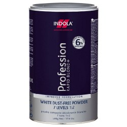 Порошок обесцвечивающий для волос Rapid Blond + White Dust-Free Powder 7 Levels 1:2 Indola Professional
