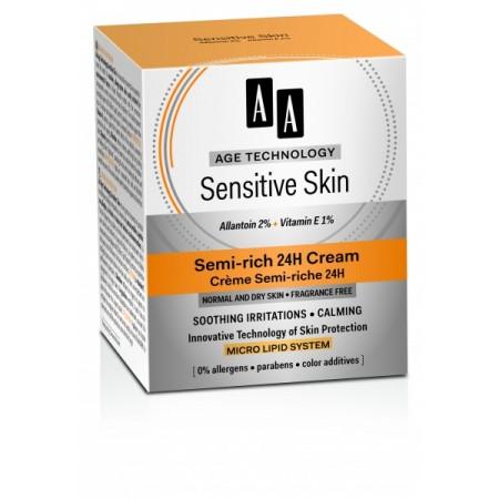Age Technology Sensitive Skin Полужирный крем для сухой и нормальной кожи 24H AA Oceanic