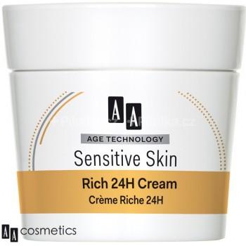Age Technology Sensitive Skin Жирный крем для сухой и нормальной кожи 24H, 50 мл AA Oceanic