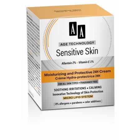 Age Technology Sensitive Skin Защитный увлажняющий крем 24H, 50 мл AA Oceanic