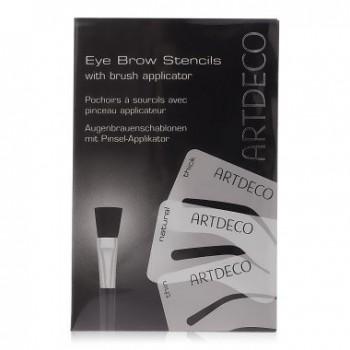 Набор кисть для бровей с трафаретами Eyebrow Stencils With Brush Artdeco