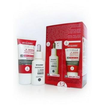 Набор Программа безынъекционной коррекции морщин. крем для лица против морщин. сыворотка для хрупкой кожи век Mirielle Belkosmex
