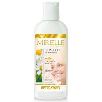 Молочко косметическое с экстрактом ромашки для очищения кожи лица Mirielle Belkosmex