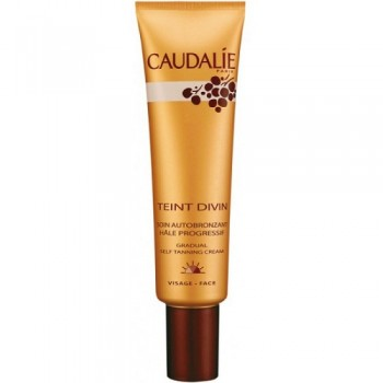 Крем-автозагар для лица Teint Divin self tanner for face Caudalie