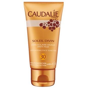 Антивозрастной солнцезащитный уход для всех типов кожи Soleil divin anti-ageing face suncare SPF 30 Caudalie