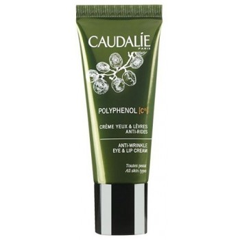 Крем против морщин для глаз и губ Polyphenol C15 eye and lip cream Caudalie