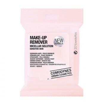 Мицеллярные салфетки для снятия макияжа с глаз и лица (для чувствительной кожи) 20 шт Comodynes