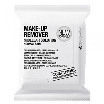 Мицеллярные салфетки для снятия макияжа с глаз и лица (для нормальной кожи) 20 шт Comodynes