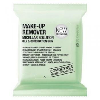 Мицеллярные салфетки для снятия макияжа с глаз и лица (для комбинированной и жирной кожи) 20 шт Comodynes