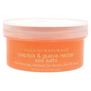 """Скраб для рук, ног и тела """"Папайя и гуава"""" на основе морской соли Cuccio"""