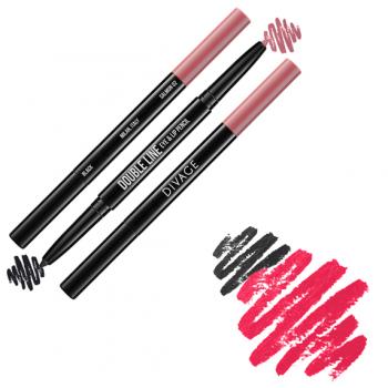 Автоматический карандаш Double Line Eye & Lip Pencil     Divage