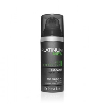 Восстанавливающий ночной крем для лица мужской Platinum Men 24h Protection Recharge Night Cream Dr Irena Eris
