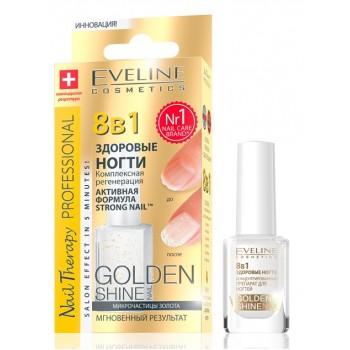 Средство Здоровые ногти 8в 1 Комплексная регенерация Golden Shine Nail Eveline