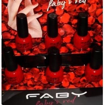 Набор лаков по 6 шт в коробке Faby'S Red Faby
