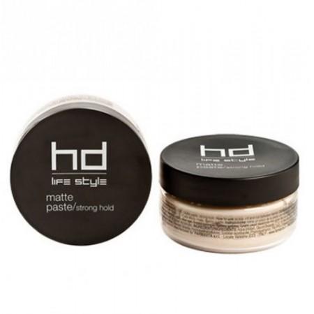 Матовая паста для укладки волос сильной фиксации HD Life Style