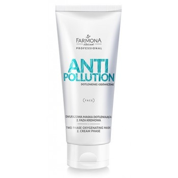 Anti Pollution Двухфазная насыщающая  кислородом  маска для лица Гидрогелевая фаза 1 Farmona Professional