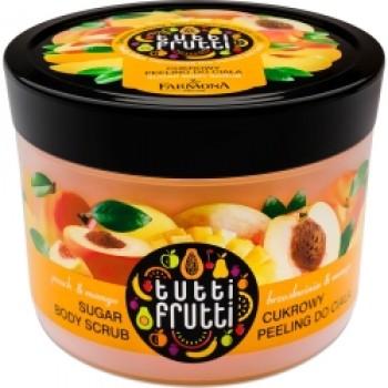 Tutti Frutti Манго & Персик Сахарный скраб для тела   Farmona