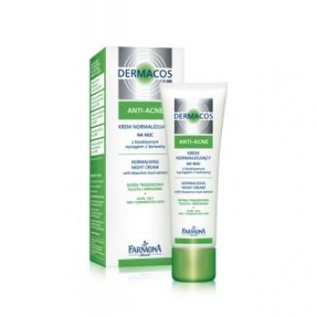 Dermacos Anti-Acne Нормализующий крем для лица на ночь Farmona