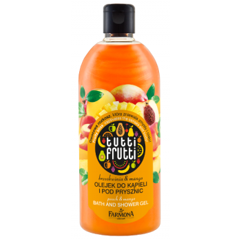 Tutti Frutti Манго & Персик Масло для ванны и душа Farmona