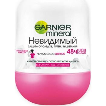 Mineral Дезодорант-антиперспирант роликовый Невидимый Прикосновение нежности Garnier