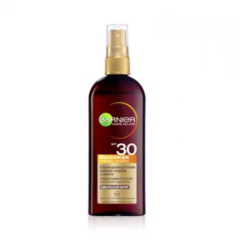 Солнцезащитное масло-спрей Ambre Solaire SPF30 Garnier