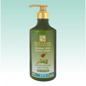 Увлажняющее жидкое бесщелочное мыло для тела с оливковым маслом и медом Health and Beauty (Израиль)