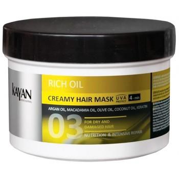 Крем-маска для сухих и поврежденных  волос Rich Oil KAYAN Professional